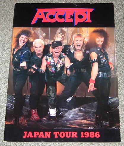 Accept Japan 1986 Tour Book BOOK