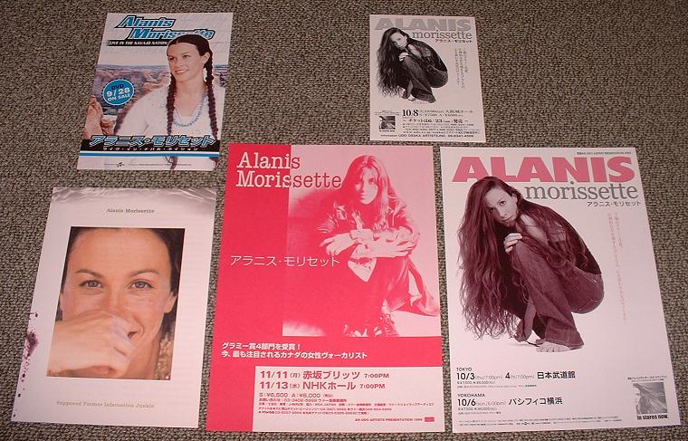 MORISSETTE, ALANIS - 5 x Japan booklet/handbill set - Others