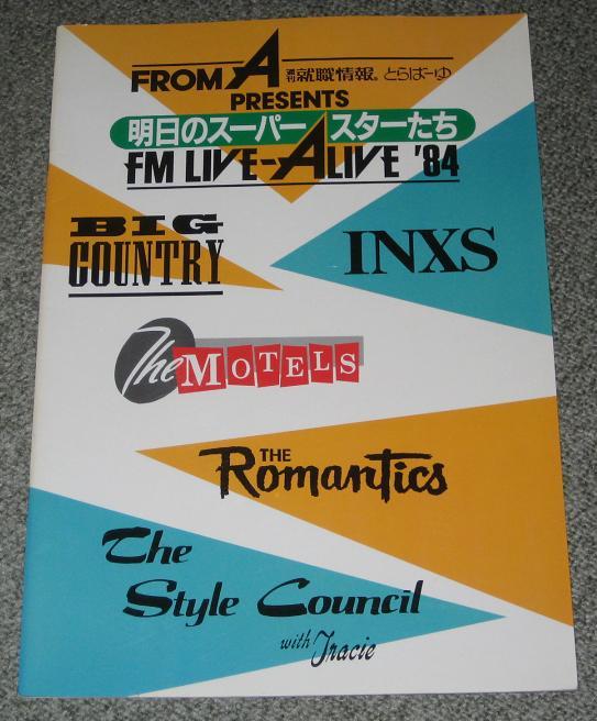 Live Alive 84 Japan Tour Book