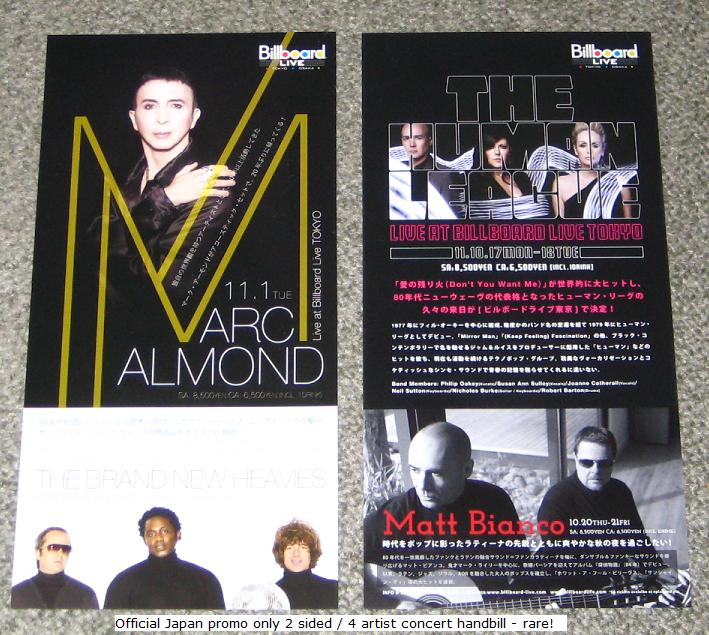 Japan 2011 Tour Handbill