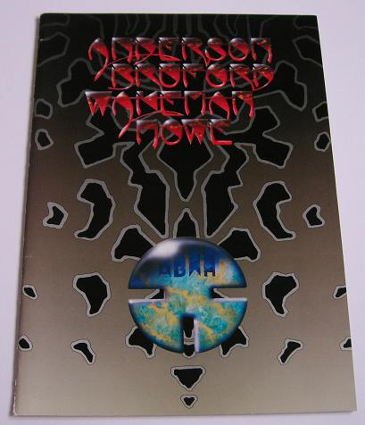 ANDERSON BRUFORD WAKEMAN - Japan 1990 tour book - Programme Concert