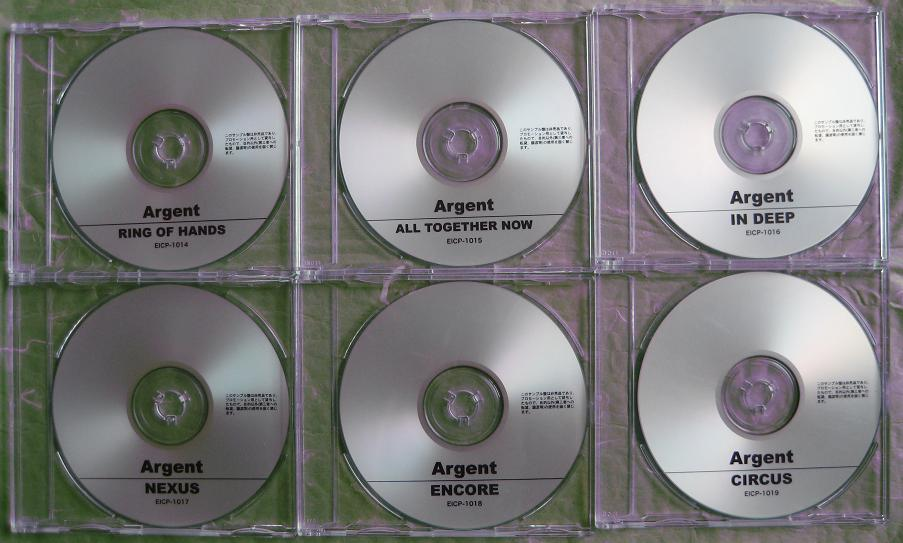 Set Of 6 X Full Album Cdrs