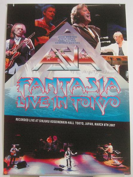 ASIA - Live In Japan release poster - Poster / Affiche