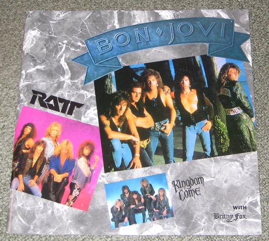 Bon Jovi Heat Beat 1989 Japan Programme BOOK