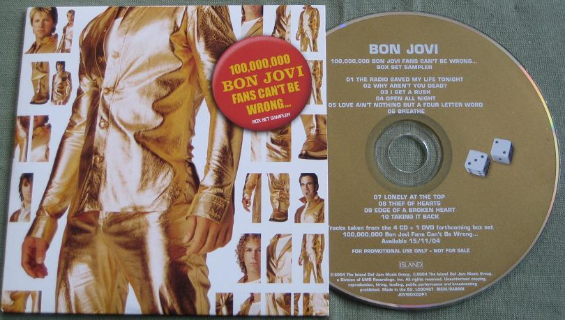 Bon Jovi - 100.000.000 Fans Box Sampler