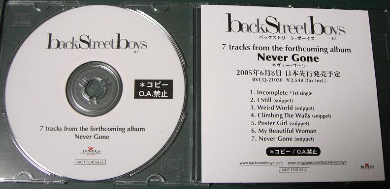 Backstreet Boys 7 Tracks From Never Gone PROCD