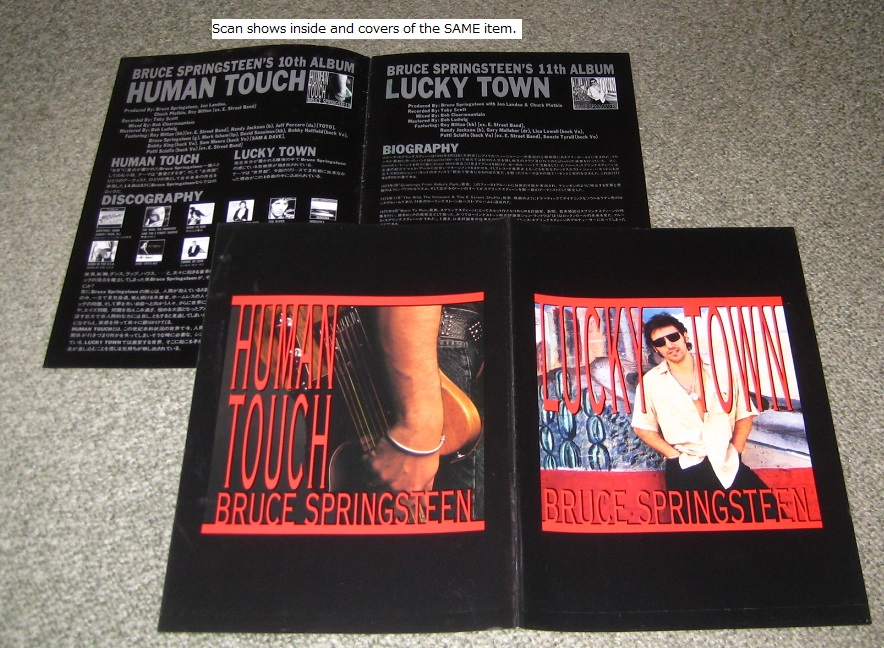 BRUCE SPRINGSTEEN - Lucky Town promo booklet - Autres
