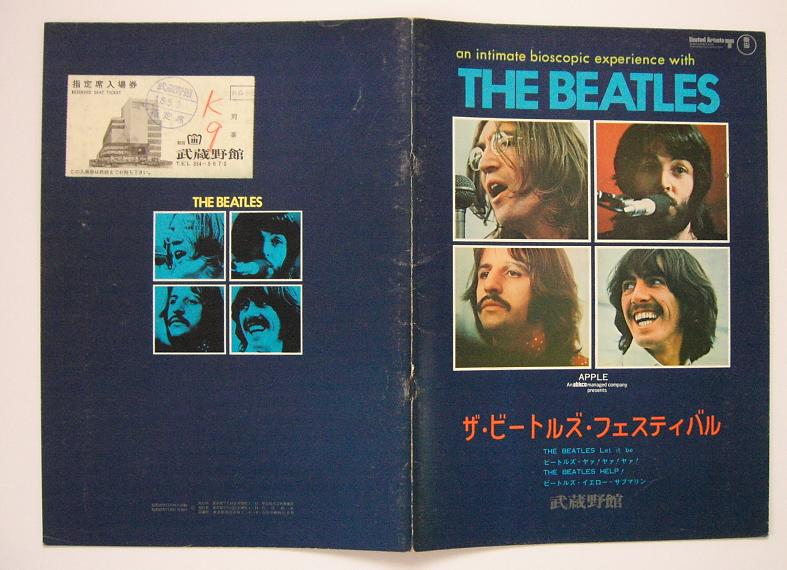 Beatles Let It Be Film Program + Tkt BOOK