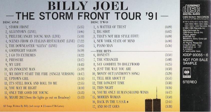 The Storm Front Tour 1991 - Joel, Billy