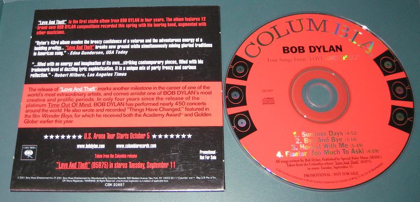 Dylan,Bob Four Songs From Love And Theft PROCD