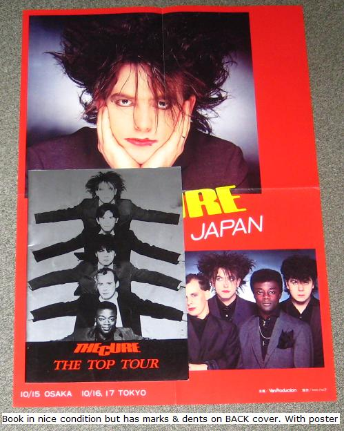 Japan 1984 Tour Book + Poster - Cure