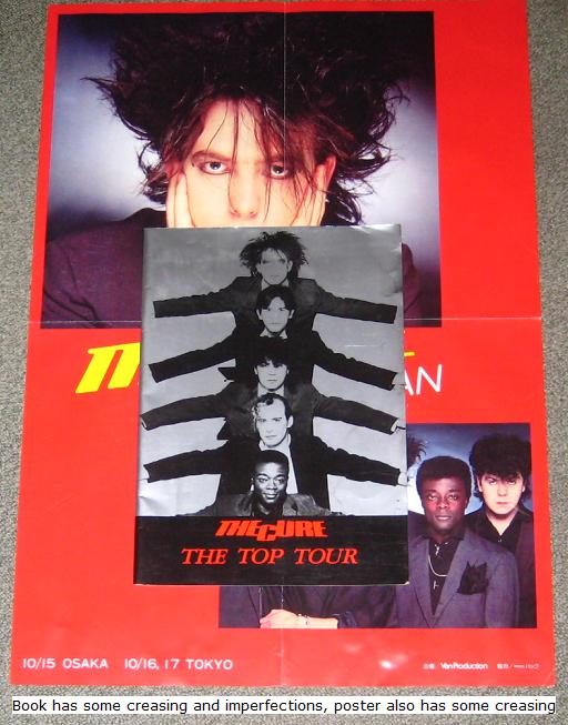 Cure - Japan 1984 Tour Book + Poster