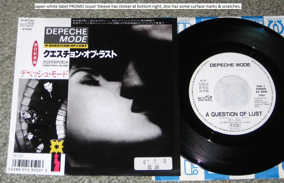 Depeche Mode - A Question Of Lust Single