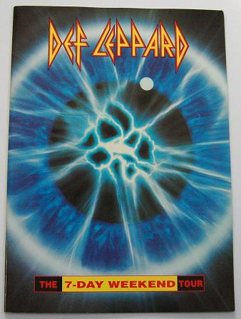 DEF LEPPARD - 7 Day Weekend WORLD Tour book - Concert Program