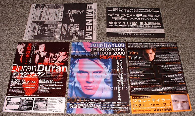 Set Of 5 X Japan Pro Handbills