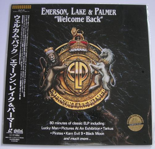 EMERSON, LAKE & PALMER - Welcome Back - Laser Disc