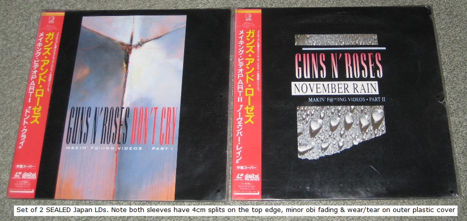 Guns 'N' Roses Making - Part 1 And 2 Ld Set VIDEO:LASERDISC