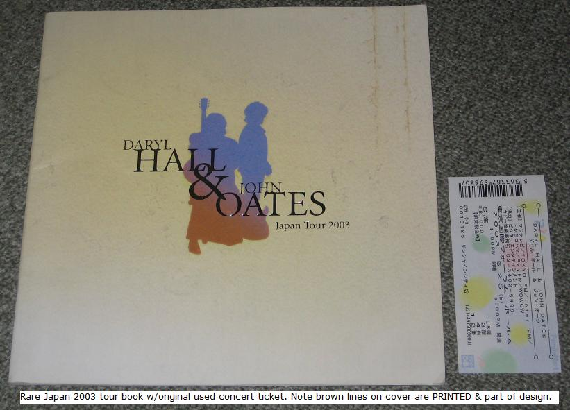 Hall And Oates Japan 2003 Tour Book + Ticket BOOK