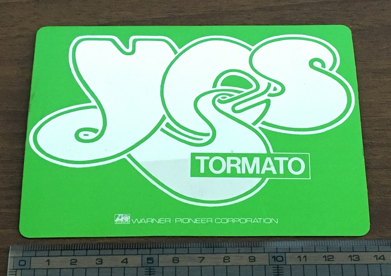 YES - Japan Tormato PROMO sticker - Others