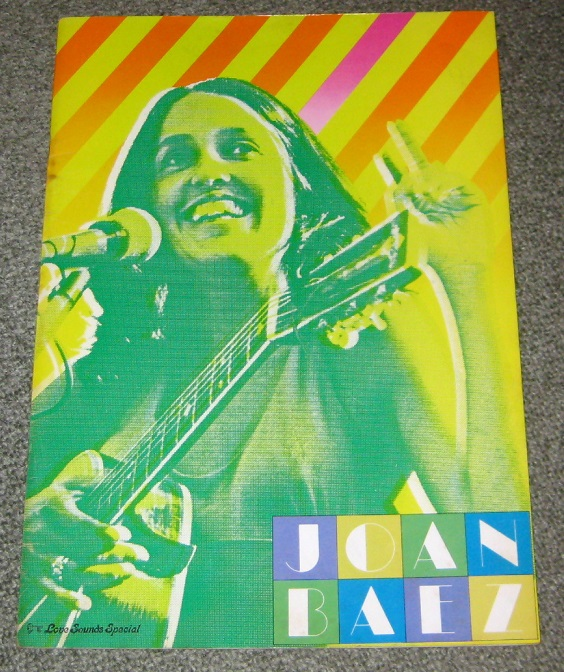 Baez,Joan Japan 1974 Tour Book BOOK