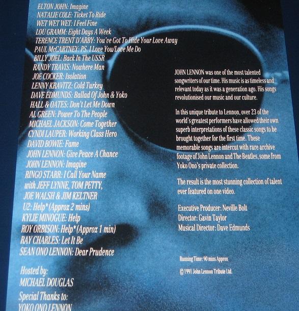 ELO (JEFF LYNNE) - Lennon - A Tribute (various) - Laser Disc