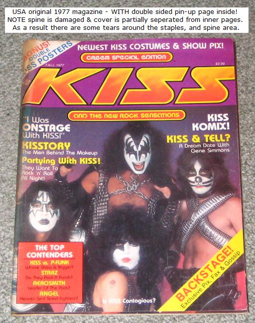 Kiss Kiss Us Creem Special Edition MAGAZINE