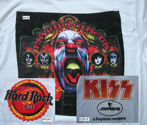 Kiss - Psycho Circus Jap Promo Tshirt