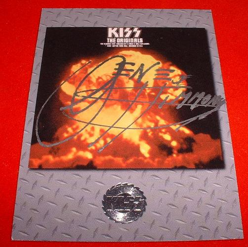 Kiss Card Signed By Gene!