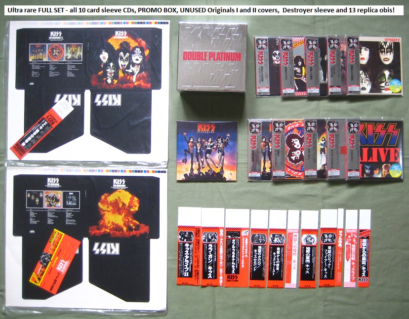 KISS - 10 x card p/s CD + EXTRAS! - CD Box