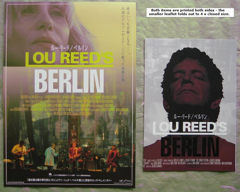 REED, LOU - 2 x Japan Berlin leaflet set - Others