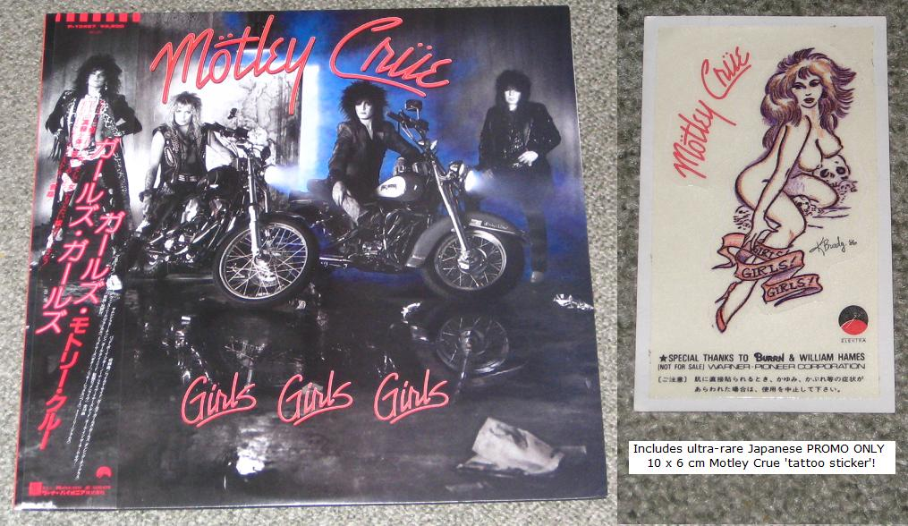 Motley Crue - Girls Girls Girls + Sticker!