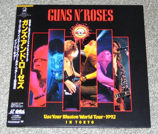 Guns 'N' Roses Use+Your+Illusion+In+Tokyo VIDEO:LASERDISC