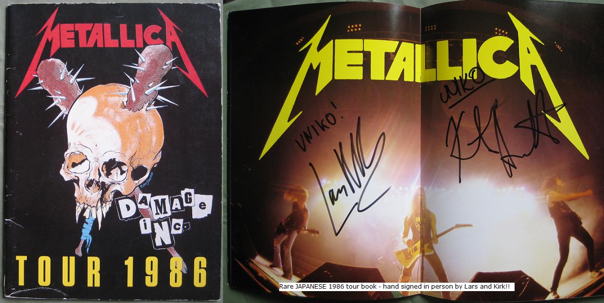 Japan Signed 1986 Tour Book