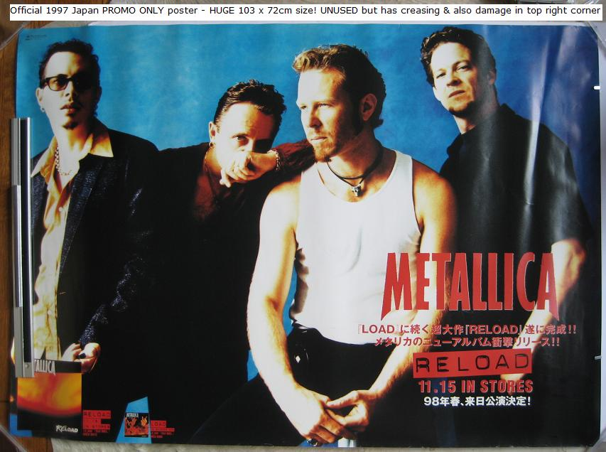 Metallica - Reload Huge Japan Promo Poster