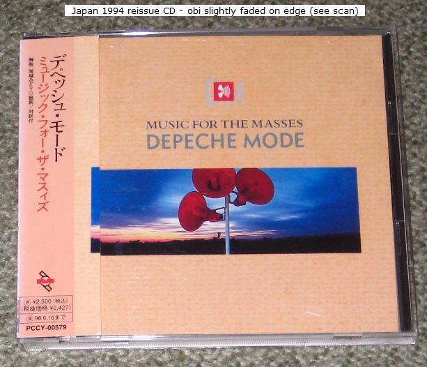Depeche Mode - Music For The Masses - Reissue