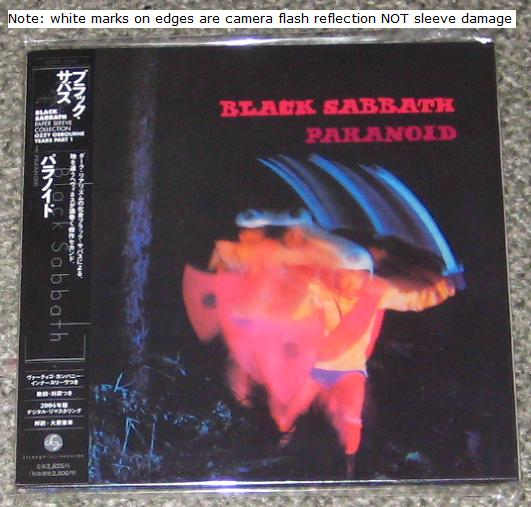 Black Sabbath - Paranoid - Card Sleeve