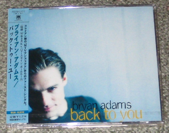 Adams,Bryan Back+To+You CD:5''SINGLE