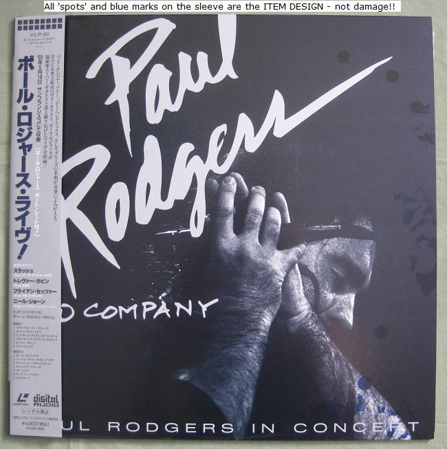 Guns 'N' Roses Paul+Rodgers+In+Concert VIDEO:LASERDISC