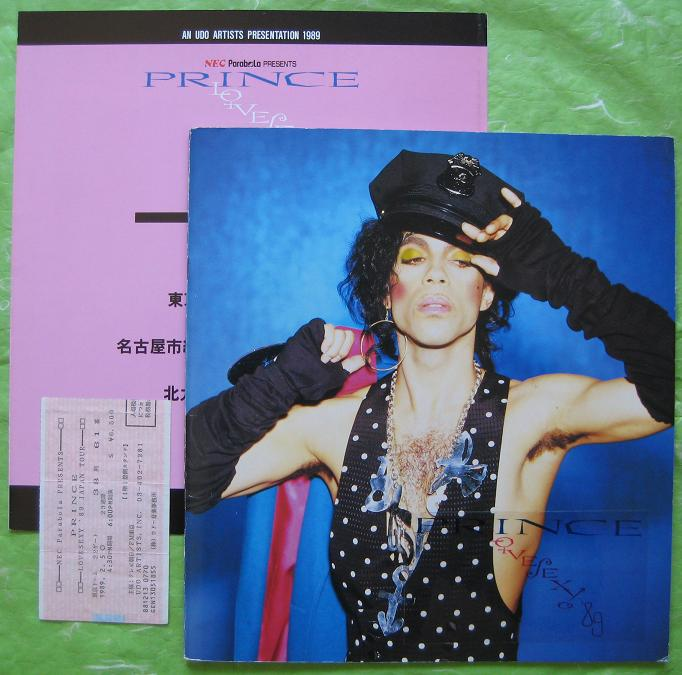 PRINCE - 1989 tour book + TICKET - Concert Program