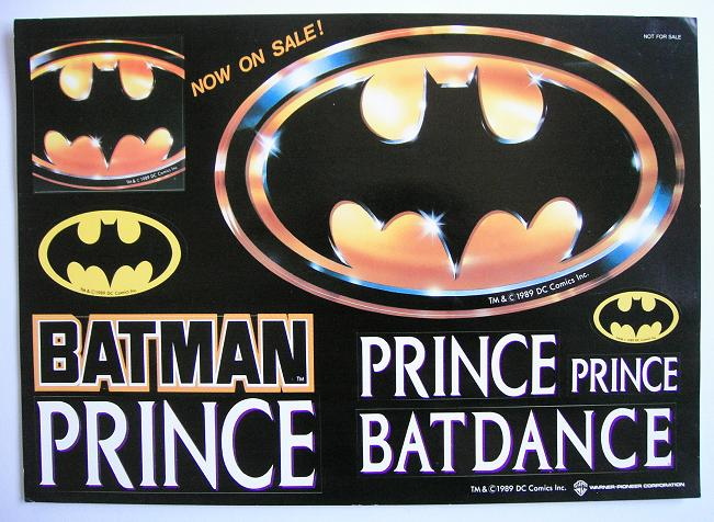 Sheet Of Batman Promo Stickers