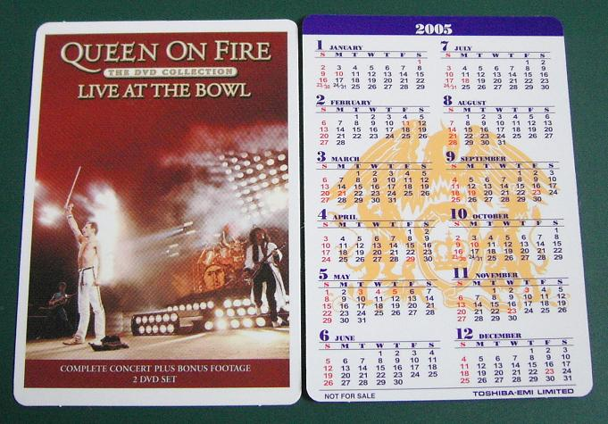 Queen - Queen On Fire Mini Calendar