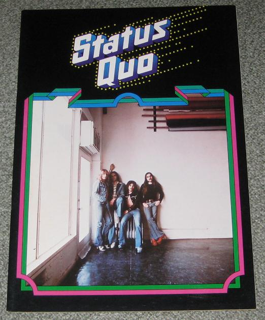 Status Quo Japan 1975 Tour Book BOOK