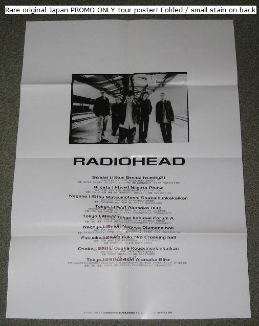 Radiohead Japan 1998 Promo Tour Poster POSTER