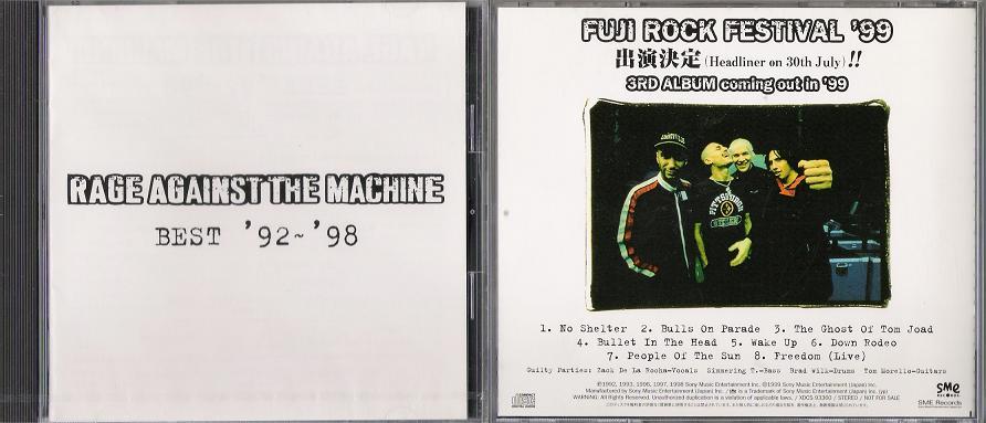 Rage Against The Machine - Best 92-98