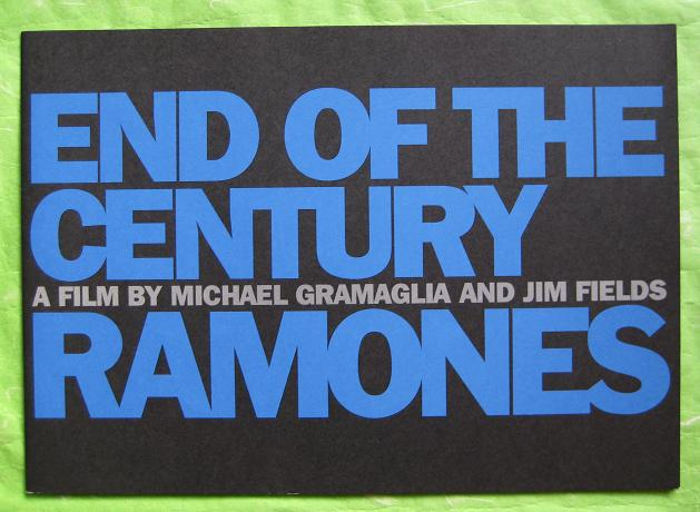 Ramones - End Of The Century Film Book
