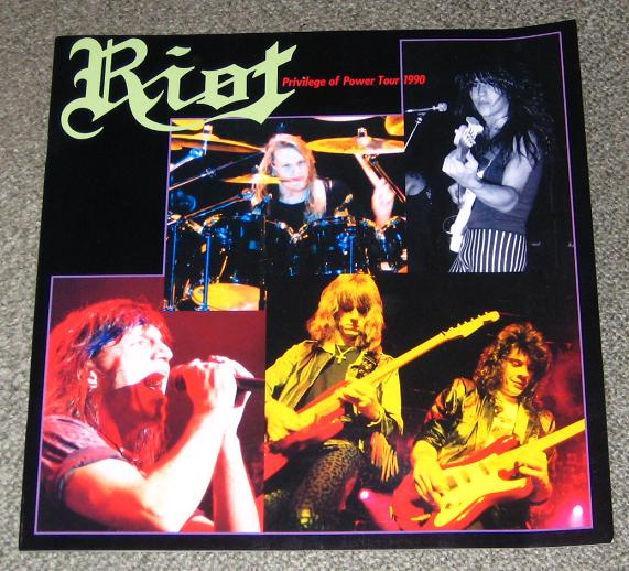 Riot Japan 1990 Tour Book BOOK
