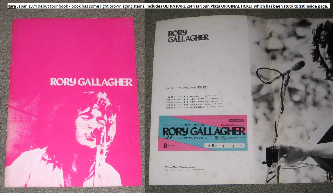 Gallagher,Rory Japan+1974+Tourbook+++Ticket BOOK