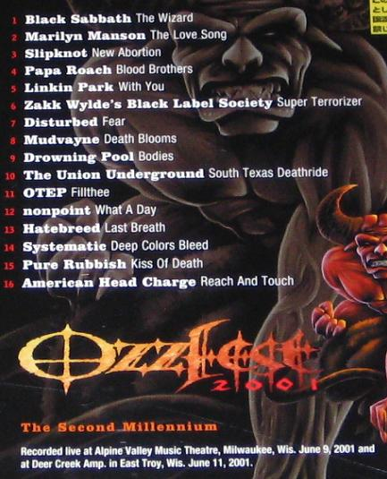 Ozzy Osbourne Ozzfest 2003 Dvd Records Lps Vinyl And Cds