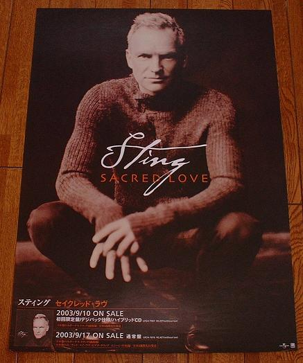 Sting Sacred Love Release Poster POSTER