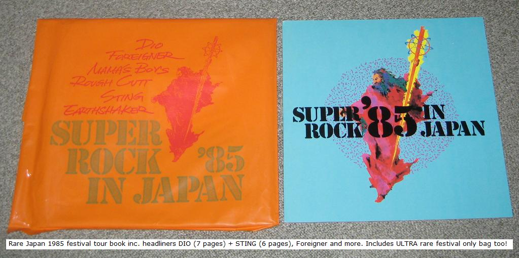 Super Rock 1985 Program